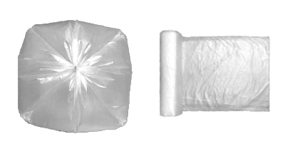 Bolsa de plástico transparente con fondo de estrella